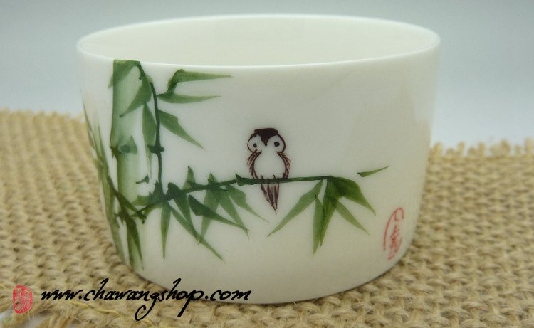 "Hand Painted Bucket Cup ""Bamboo"" 95cc"