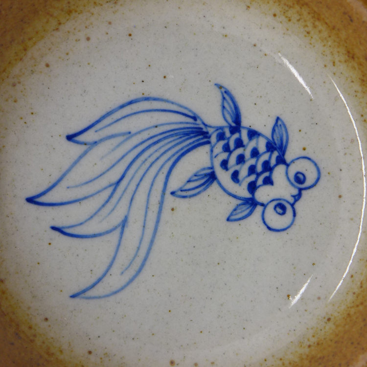 Hand Painted Goldfish Cup 60ml