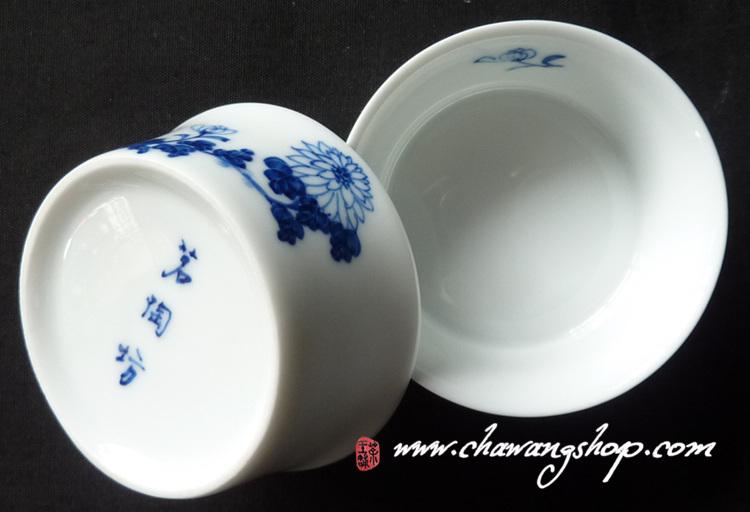 jindezhen cup with chrysanthemum