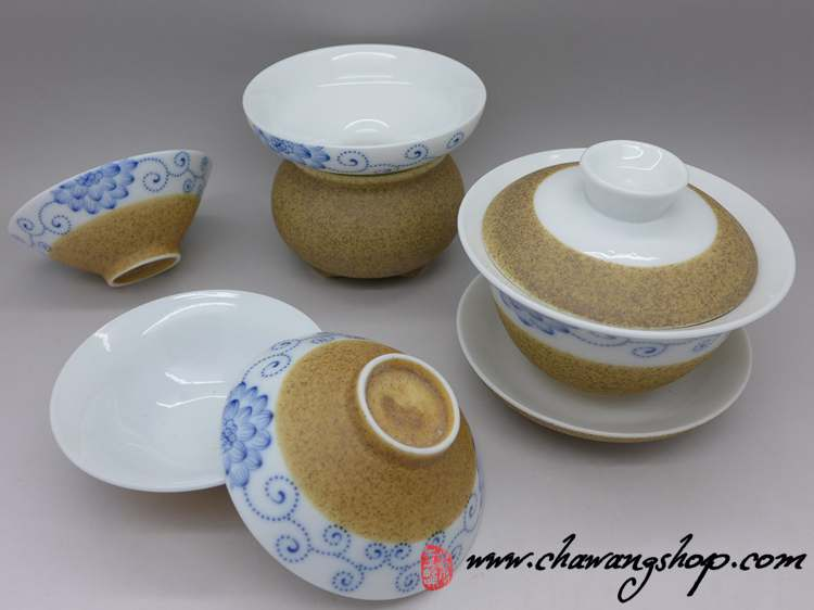 Hand Painted Porcelain and Ceramic Tea Set
