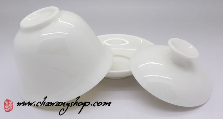 White Porcelain Gong Fu Gaiwan 125cc