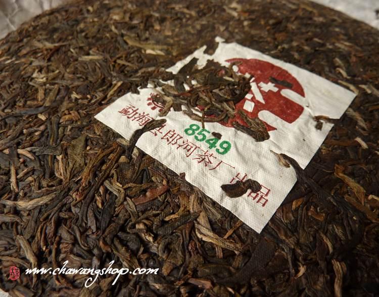 """2006 Langhe TF Meng Hai Chitse Beeng Cha """"8549"""" Raw 357g"""