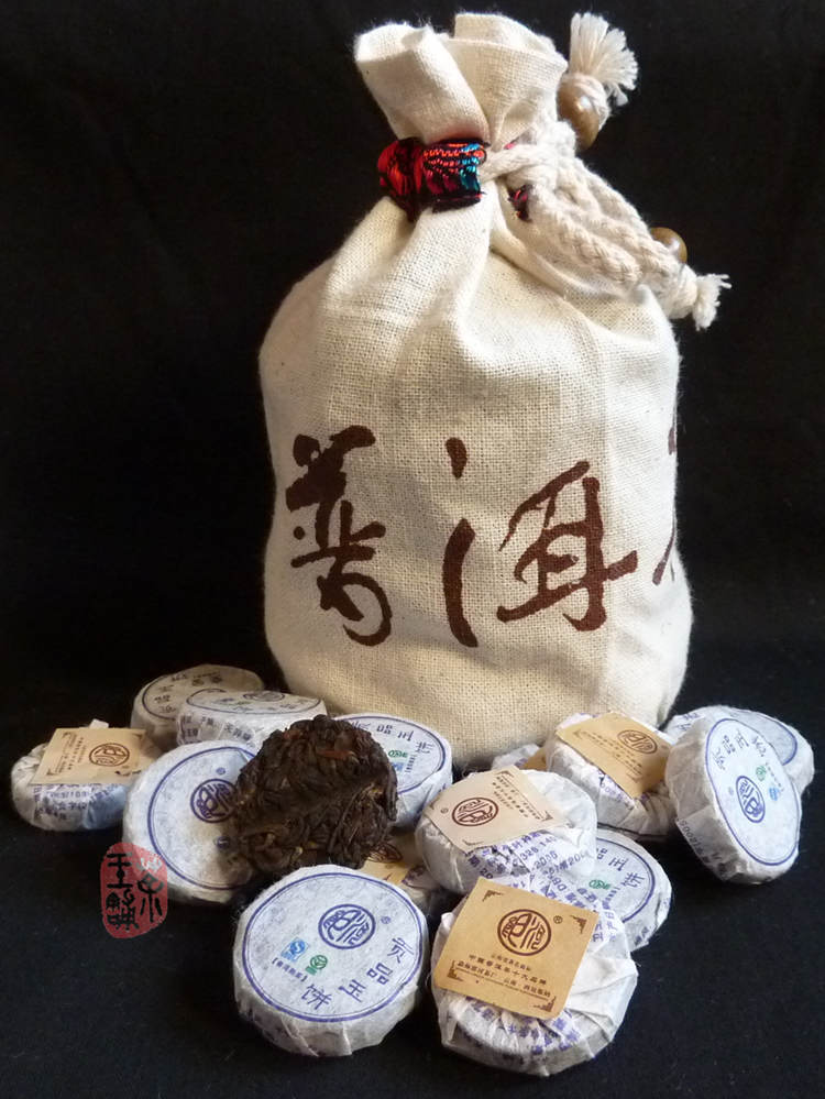 "2009 Langhe TF ""Gong Pin Yu Bing"" Ripe Mini Cake"