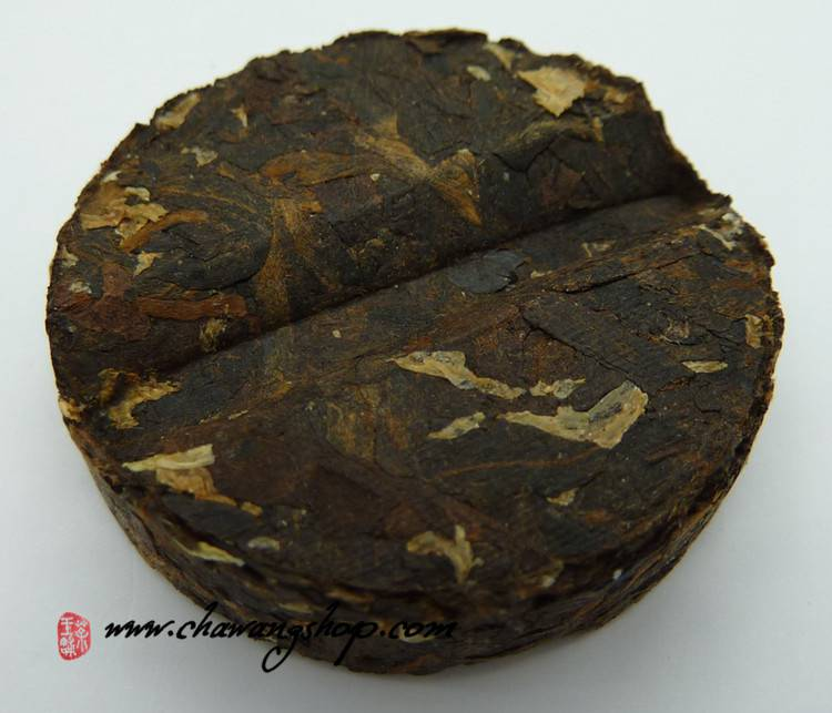 "2011 Langhe TF ""Ju Hua Pu Yun"" Ripe Puerh With White Chrysanthemums Mini Cake 100g"