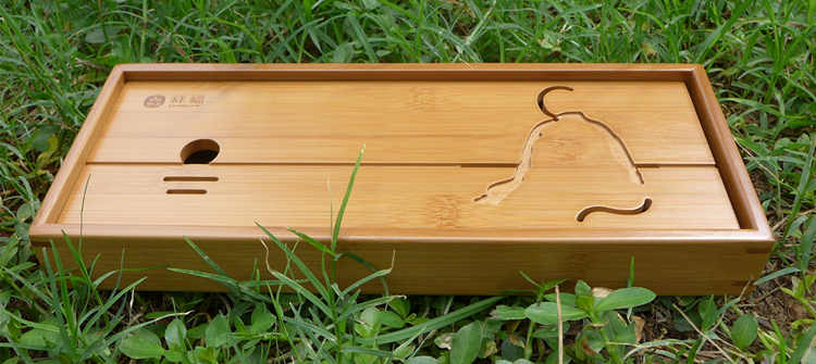 Bamboo Tea Tray (holding water) 30 12 3.5CM