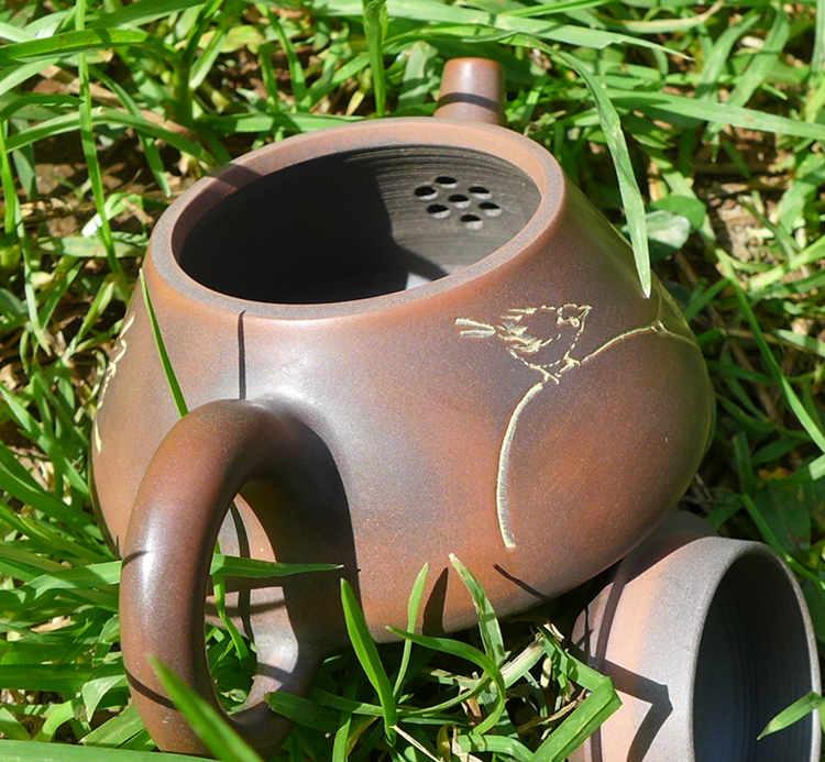 Nixing Shi Piao Bird and Flower Teapot 85cc