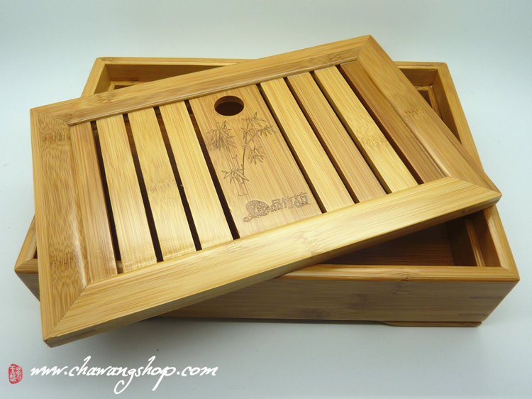 Bamboo tea tray (Holding Water) 27.3×18.5×6.3CM