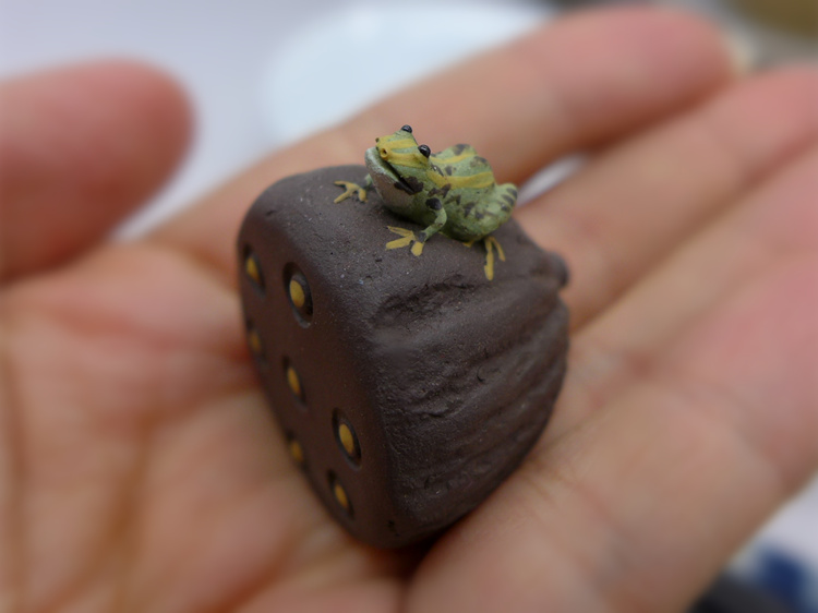 Frog and lotus