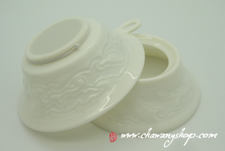 White Porcelain Tea Strainer With Stand
