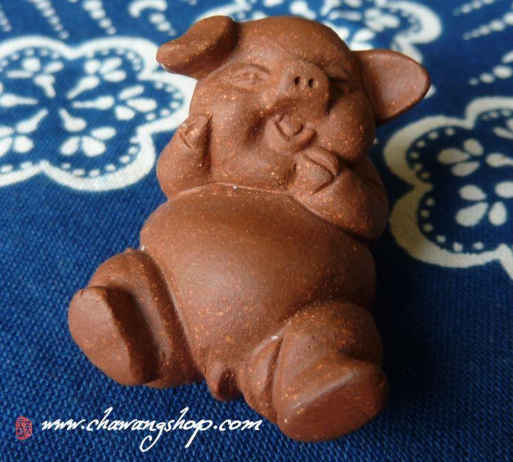 """Zisha Jiang Po Clay Tea Pet """"Happy Pig"""""""