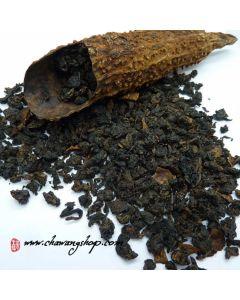 2008 Fujian Anxi Ku Gua Tieguanyin Oolong - Heavy-roasted Tieguanyin In Bitter Melon 100g