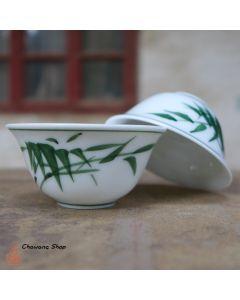 """Chaozhou Gongfu Tea Cups 30ml """"Bamboo"""" - a set of two"""