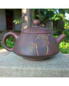 """Nixing Teapot """"Bird & Lotus"""" 100cc"""