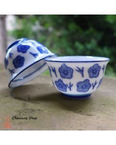 "Chaozhou Gongfu Tea Cups 40ml ""Blue Plum"" - a set of two"