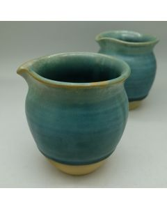 Huaning Pottery Wood Fired Tea Pitcher Blue 200ml
