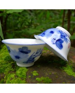 "Chaozhou Gongfu Tea Cups 30ml ""Chrysanthemum"" - a set of two"