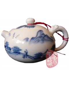 """Jingdezhen teapot """"Tuo Ba Xi Shi"""" (Landscape Painting)"""