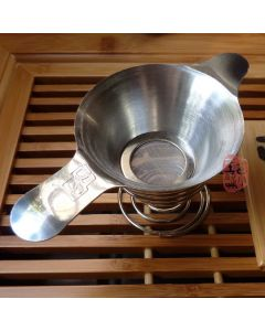 Stainless Steel Tea Strainer With Stand