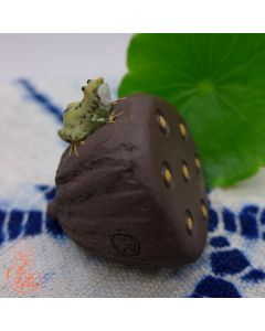 "Zisha Clay Tea Pet ""Frog and lotus"""