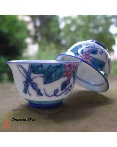 "Chaozhou Gongfu Tea Cups 40ml ""Grape Vine"" - a set of two"