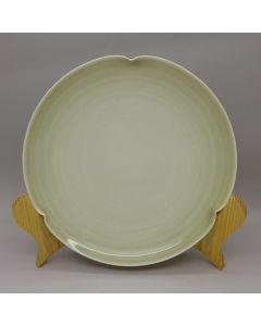 Dehua Green Ash Glaze Plate 16CM