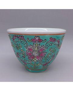 "Jingdezhen Vintage Hand Painted Tea Cup ""Green Yang Lian"" 90cc"