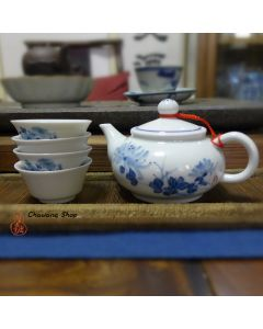 Hand painted Jingdezhen Tea Set (1 teapot and 4 cups)