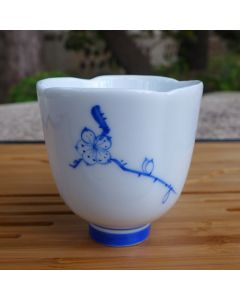 Hand Painted Plum Blossom Cup 60ml