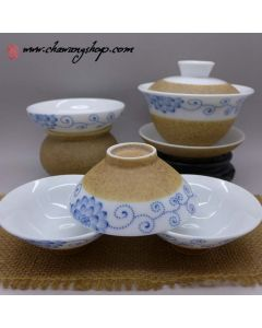 Porcelain and Ceramic Tea Set