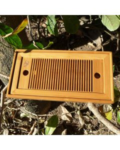 Grid-style Bamboo tea tray (Holding Water) 27×14×3CM
