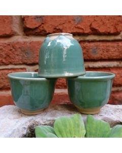 Huaning Qing Style Green Glaze Cup 70ml