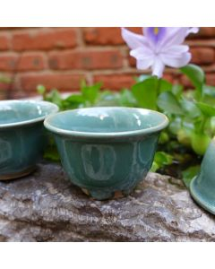 Huaning ROC Style Green Glaze Cup 50ml