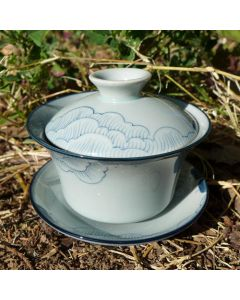 "Hand-painted Porcelain Gaiwan ""Fu Gui Fu Rong"" 120ml"