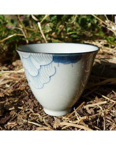 "Hand-painted Porcelain Cup ""Fu Gui Fu Rong"" 60ml"