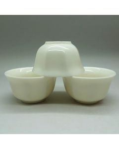 Chaozhou Off-white Gongfu Tea Cups 30ml - a set of three