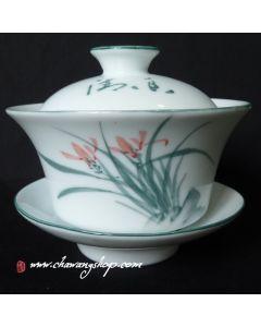 Porcelain Gaiwan With Orchid Design 200cc