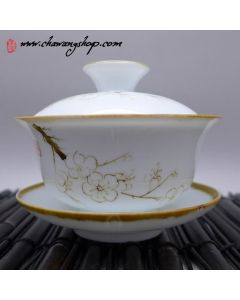 Porcelain Hand Painted Gaiwan Cherry blossom 120cc