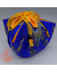 "Tea ware bag No.17 ""Blue Dragon and Phoenix"""