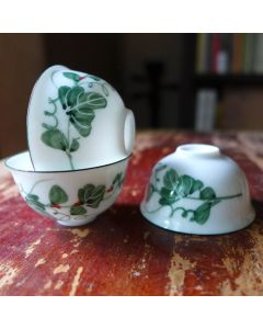 "Chaozhou Gongfu Tea Cups 30ml ""Vines"" - a set of three"