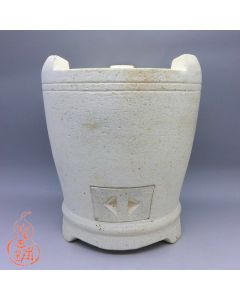 "Chaozhou White Clay Stove ""Double line"" 15cm"