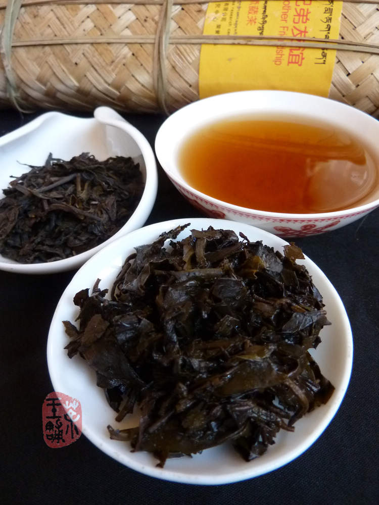 2009 Ya'an Tibetan tea in Bamboo Pack