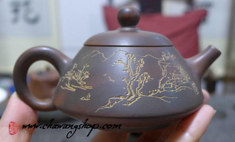 """Nixing Teapot """"Shan Shui""""  90cc"""