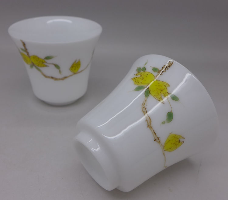 Hand Painted Buddha Hand Cup 55ml