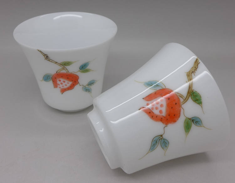 Hand Painted Pomegranate Cup 55ml