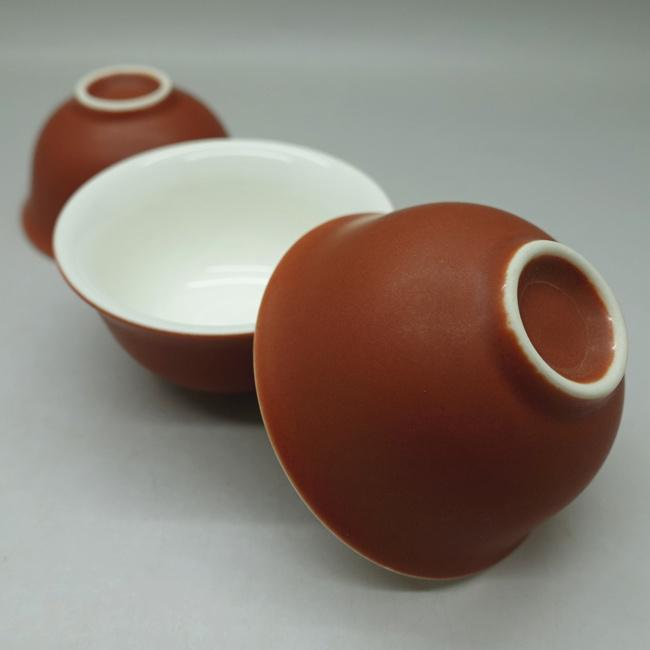 Chaozhou Carmine Gongfu Tea Cups 30ml