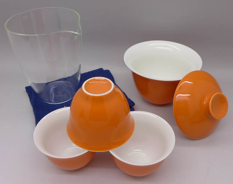 Orange Travel Tea Set