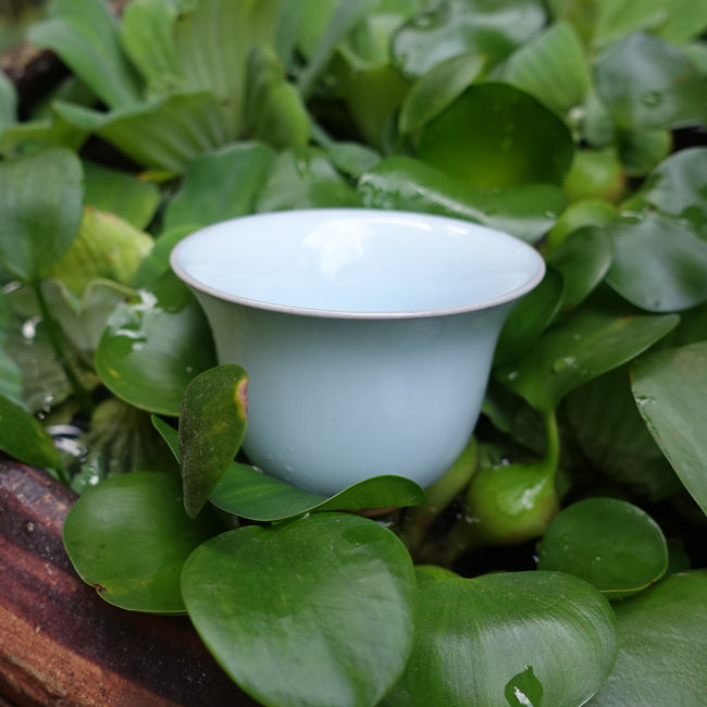 Huaning Pottery White Cup 95ml