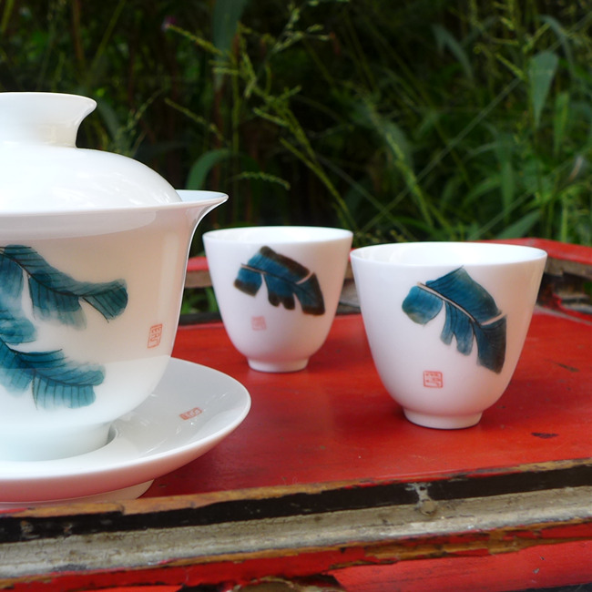 Hand-painted Banana Leaves Cup 50ml