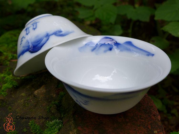 "Chaozhou Gongfu Tea Cups 30ml ""Landscape"""