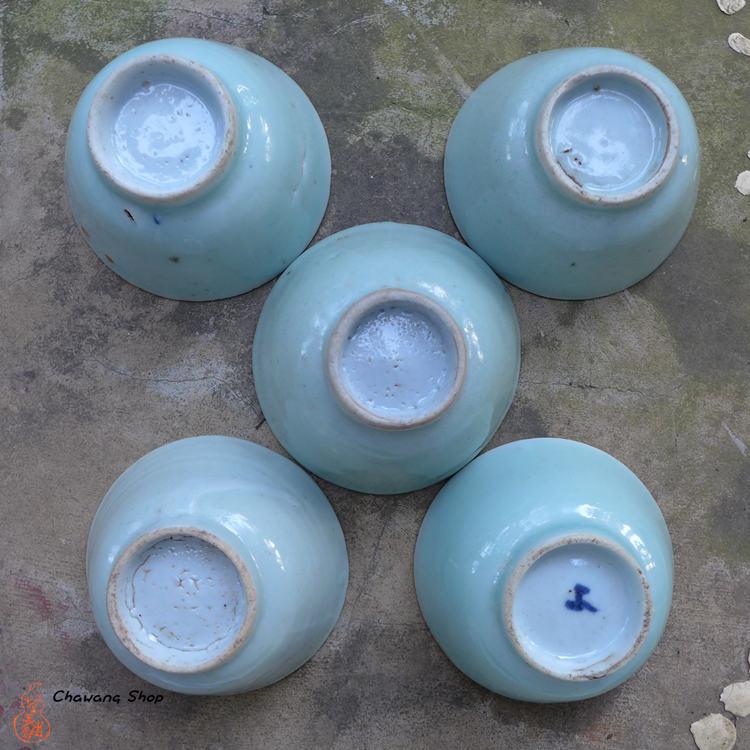 Vintage Celadon Cup